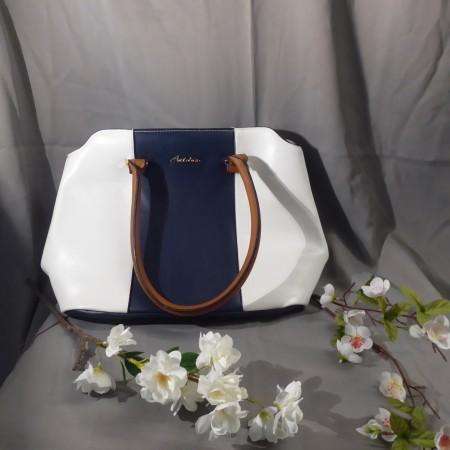 Damenhandtasche Aniston blau-weiß; Artikel-Nr.: 3063