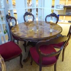 Biedermeier Tisch mit Stühlen