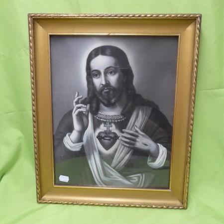 Bild Jesus mit Herz und Kreuz