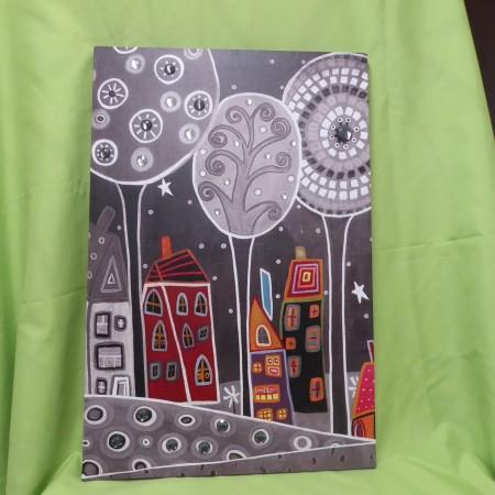 Bild mit Häuser und Bäumen