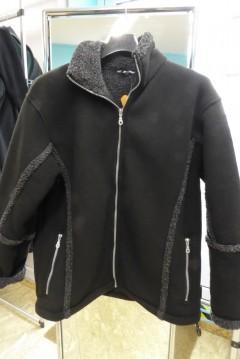 Herren Jacke schwarz mit grau