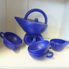 Teeservice blau
