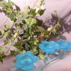 Teelicht Kerzenhalter blau