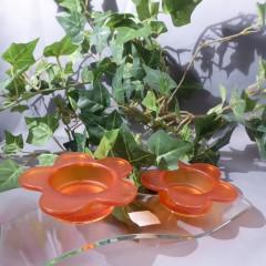 Teelicht Kerzenhalter grün und orange