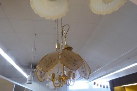 Glaslampenschirm mit Blüten; Artikel-Nr.: 3041