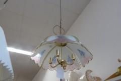 Glaslampenschirm mit blauen Blumen; Artikel-Nr.: 3042
