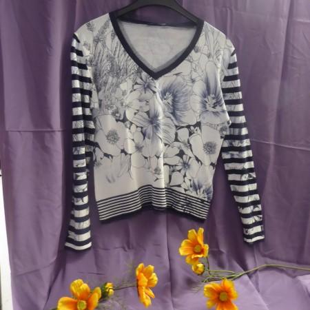 Damen Pullover Schwarz-Weiß Luisa Cerano; Artikel-Nr.: 3116