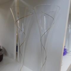 Sektflöten mit Goldverzierung