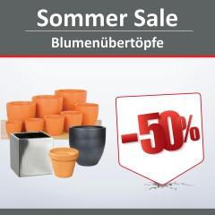 Sommer Sale auf Blumenübertöpfe