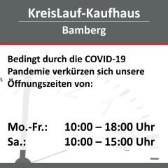 Geänderte Öffnungszeiten im Kaufhaus Bamberg